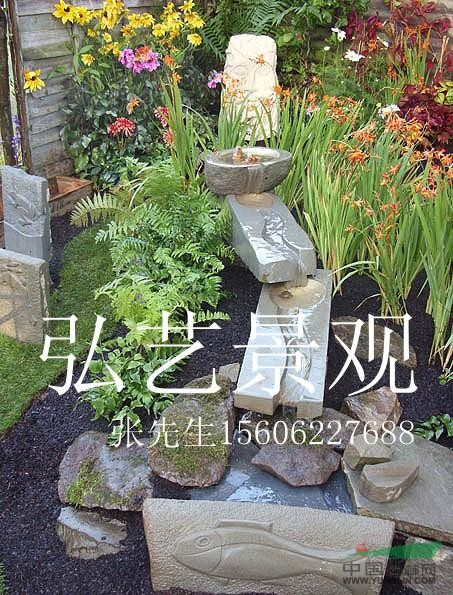 园林手绘石块效果图