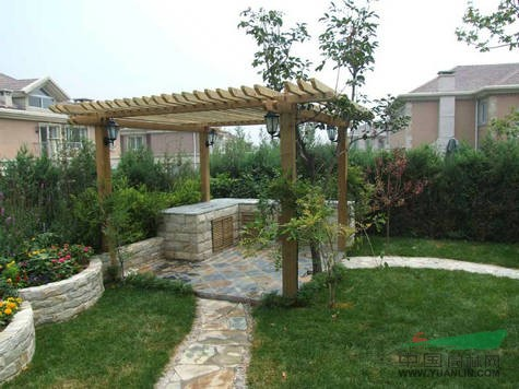 别墅屋顶绿化实景