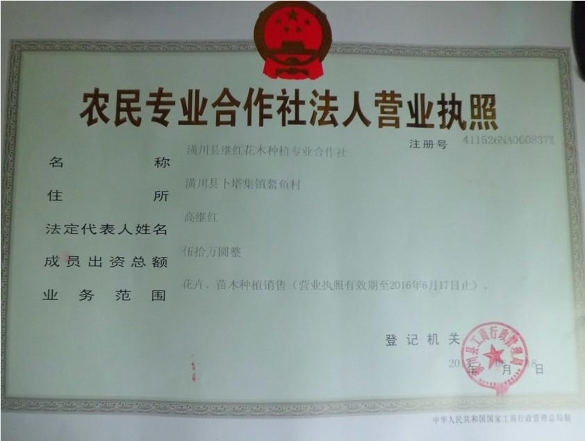 潢川县继红花木种植专业合作社
