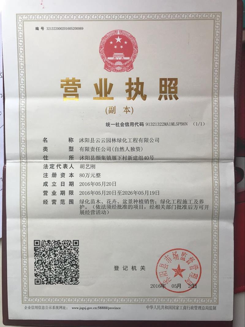 沭阳县云云园林绿化工程有限公司