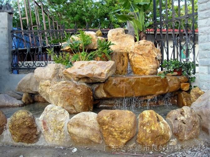 水池假山设计效果图 室内假山水池效果图