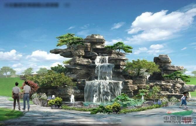 安徽千层石假山瀑布设计安装效果图供应/安徽千层石假山瀑布设计安装