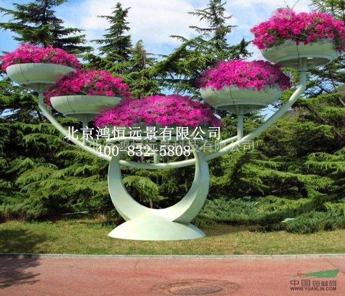 城市艺术花架 立体组合花盆 景观小品 铁艺花架 节点美