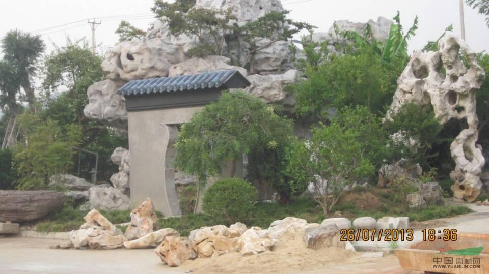 苏州园林太湖石假山