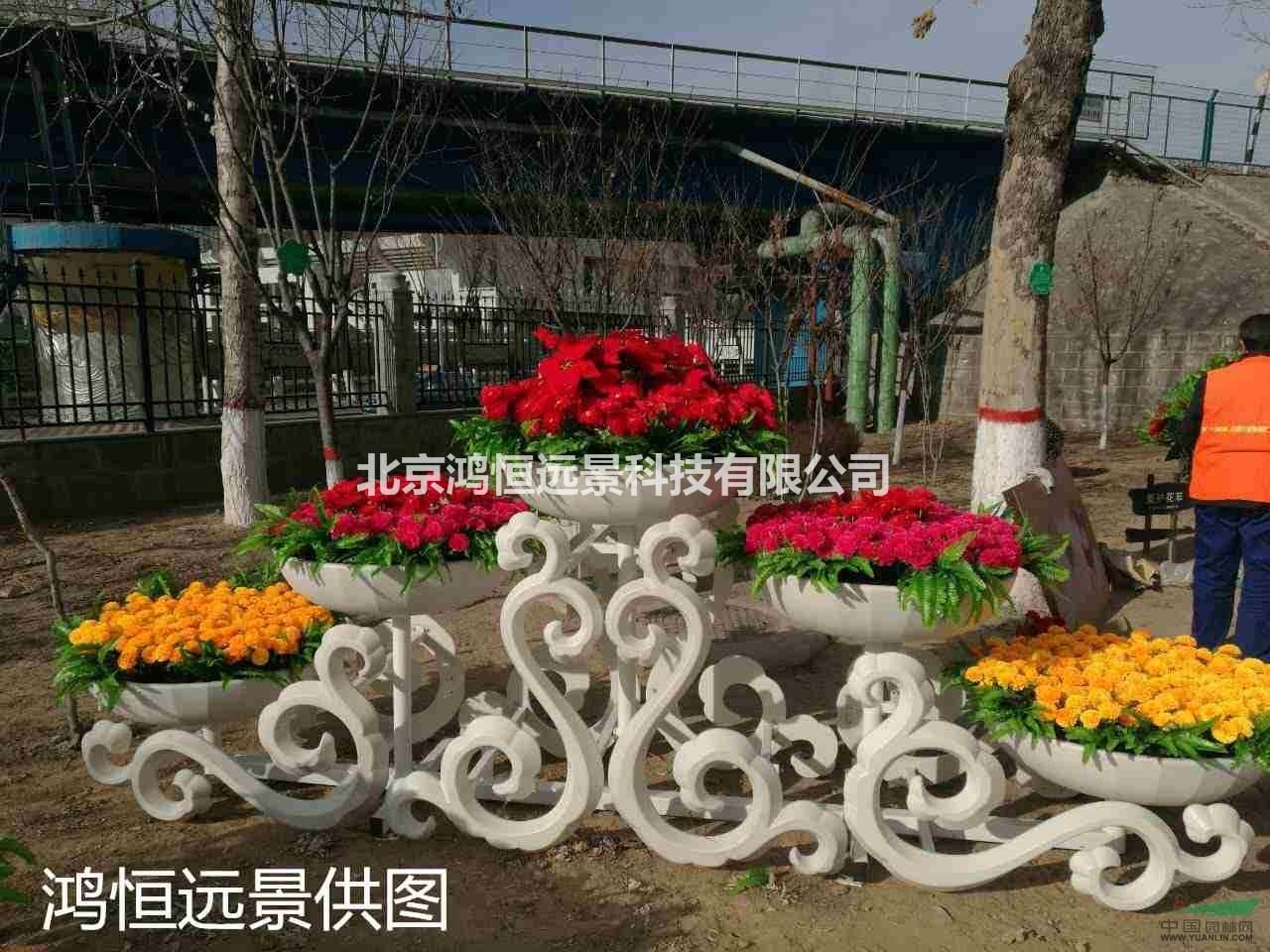 园林景观小品,室外大型铁艺花架,组合花架