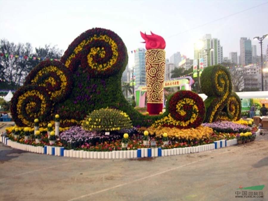 立体花坛设计施工,山东花卉立体花坛造型,山东花卉租摆造型园艺