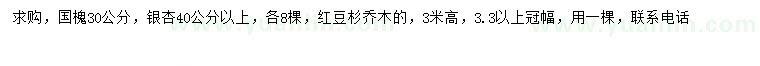 六合彩图库国槐、银杏、红豆杉