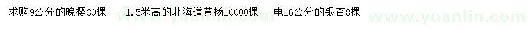 六合彩图库晚樱、北海道黄杨、银杏