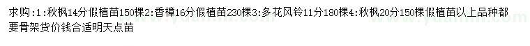 六合彩图库秋枫、香樟、多花风铃等