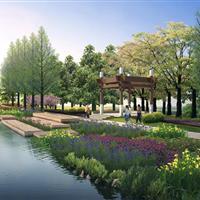 汉浦塘人工湿地-氧化塘景观设计