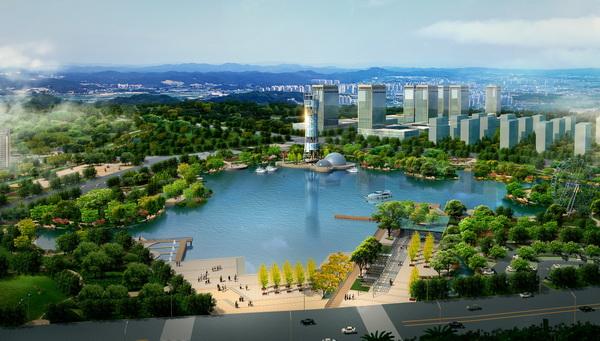 海盐县中央公园及周边水域建设项目景观设计图片