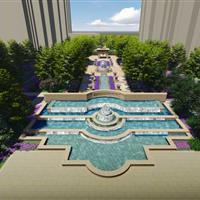 河北保定领袖紫晶城景观设计