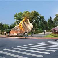 天津滨海新区南部道路绿化景观提